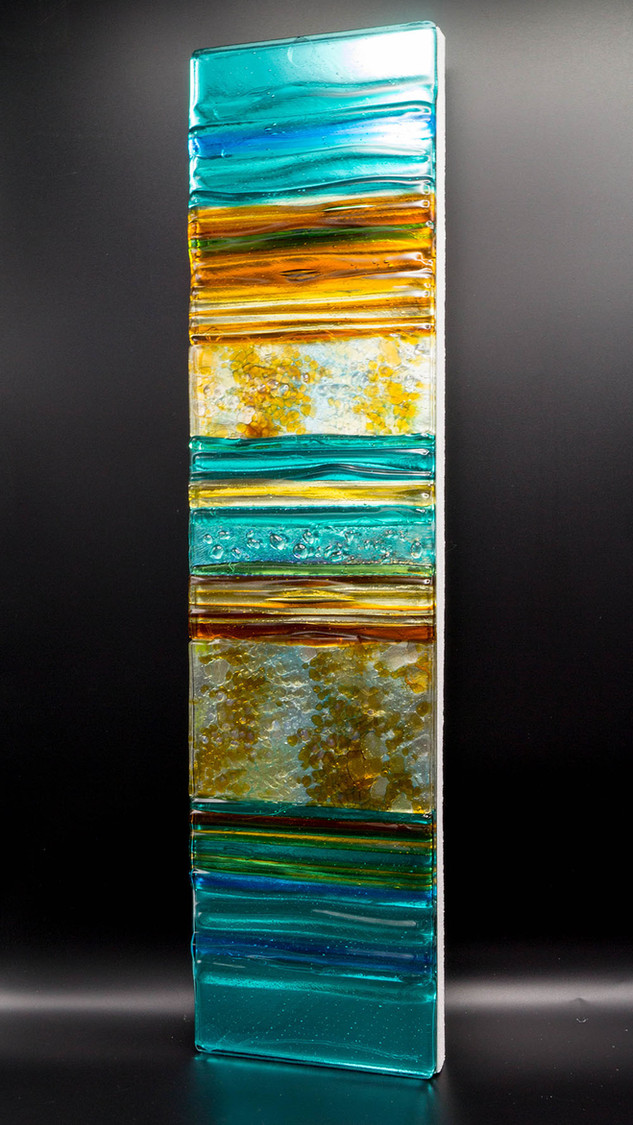 PEBBLE BEACH - Sculpted Glass panel