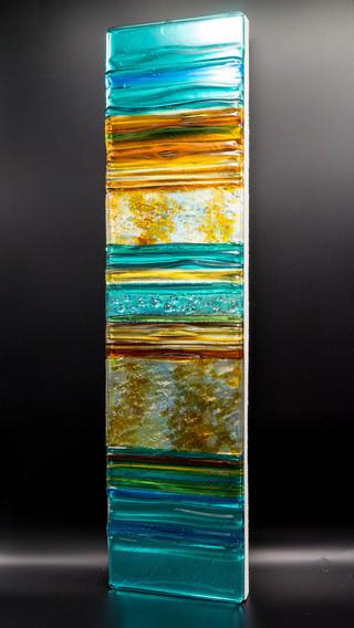 PEBBLE BEACH - Sculpted Glass panel