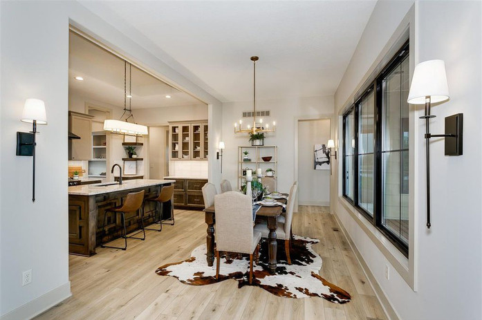 LoveLeeHomes Dining Room with Cowhide
