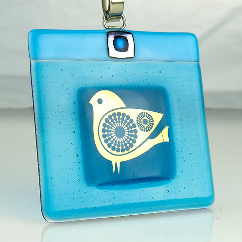 QUIRKY BIRD - Glass Plaque