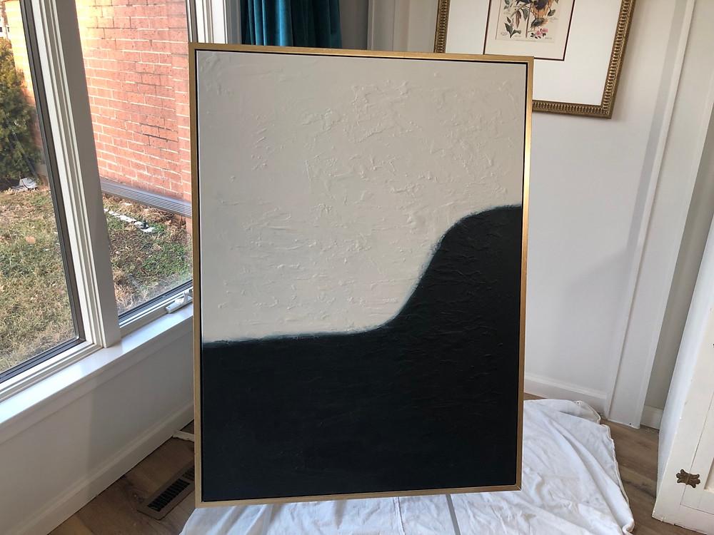 DIY Canvas Art, black and white