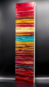 Carnival - Fused glass sculptural glass panel