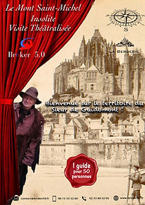 affiche visite theatralisé mont saint-mi