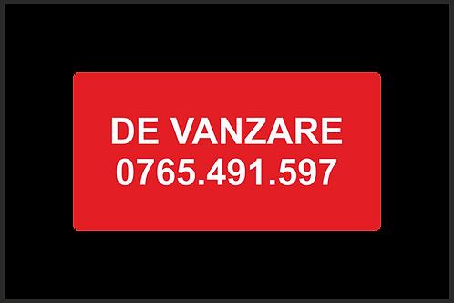 Banner publicitar cu mesajul de Vanzare + nr telefon