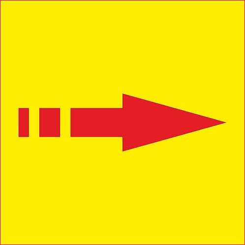 Banner publicitar stradal directional 100x100 cm