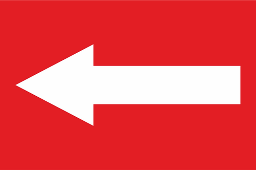 Banner publicitar stradal directional 200x100 cm