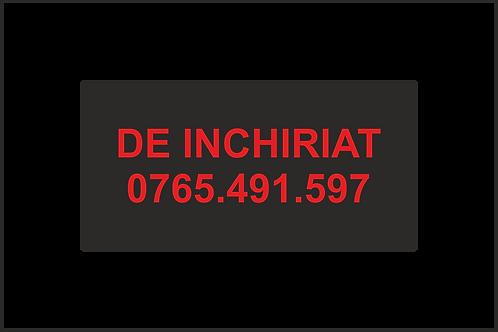 Banner publicitar cu mesajul de Inchiriat + nr telefon
