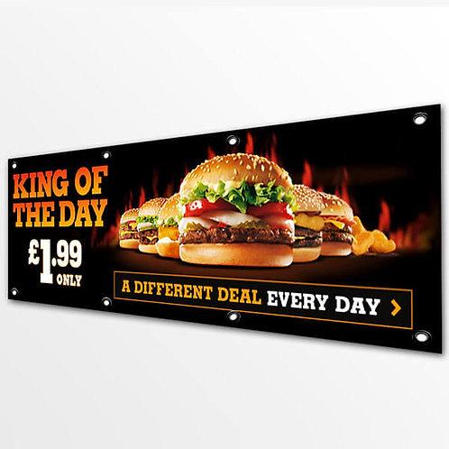 Banner publicitar stradal 600x100 cm
