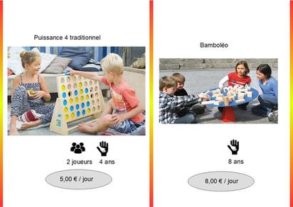 Puissance 4 (Réf : Puiss4063)         Bamboléo (Réf : Bamb064) Jeu d'équilibre