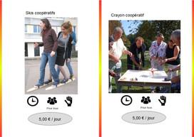 Skis coopératifs (Réf : Ski053)       Crayon Coopératif (Réf : Cray054)