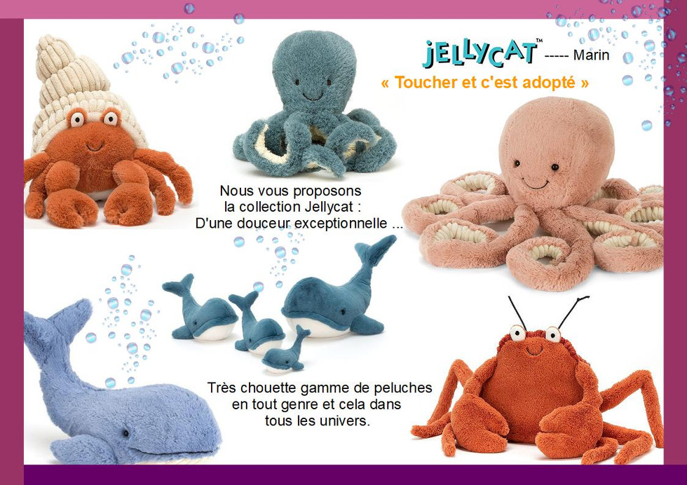 Collection Jellycat : marin