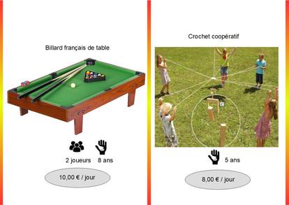 Billard Français de table (Réf : BilFranç061)         Crochet coopératif (Réf : Croch062)