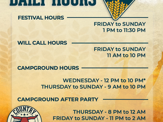 Daily Hours for Country Thunder Iowa