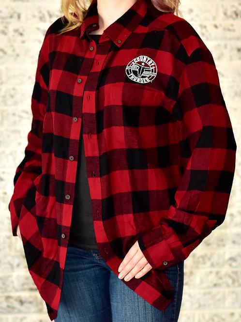 Round Logo Flannel Shirt