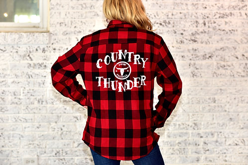Country Thunder Red Flannel Shirt