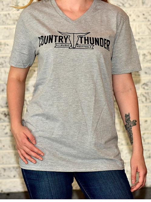 Horizontal V-Neck T-Shirt