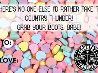 Treat them to Country Thunder for Valentine's Day!