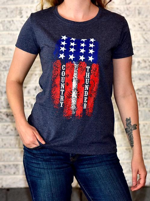Women's American Flag T-Shirt