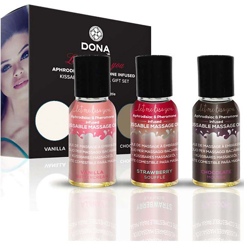 DONA Flavored Massage Oil Gift Set