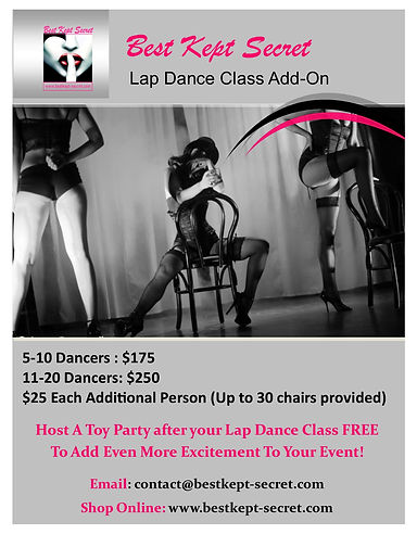 lap dance class party promo increased pr
