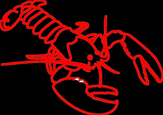 red lobster line art