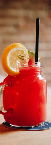 red summer drink