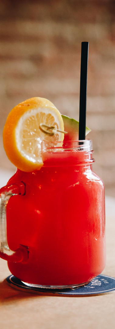 red summer drink