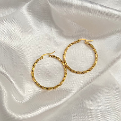 Gold Stainless Steel Hoops