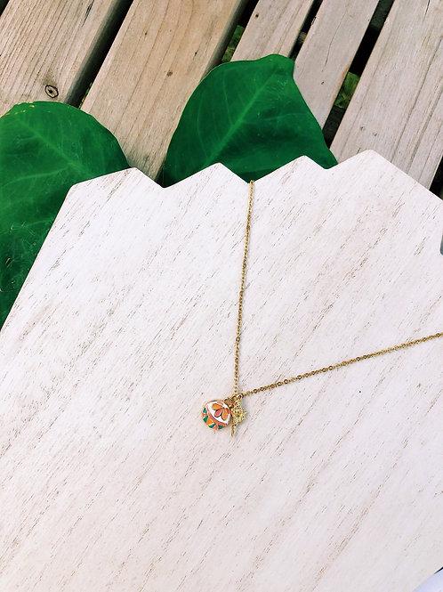 Tropical Peach Necklace