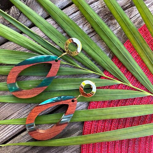 Wooden Art Earrings