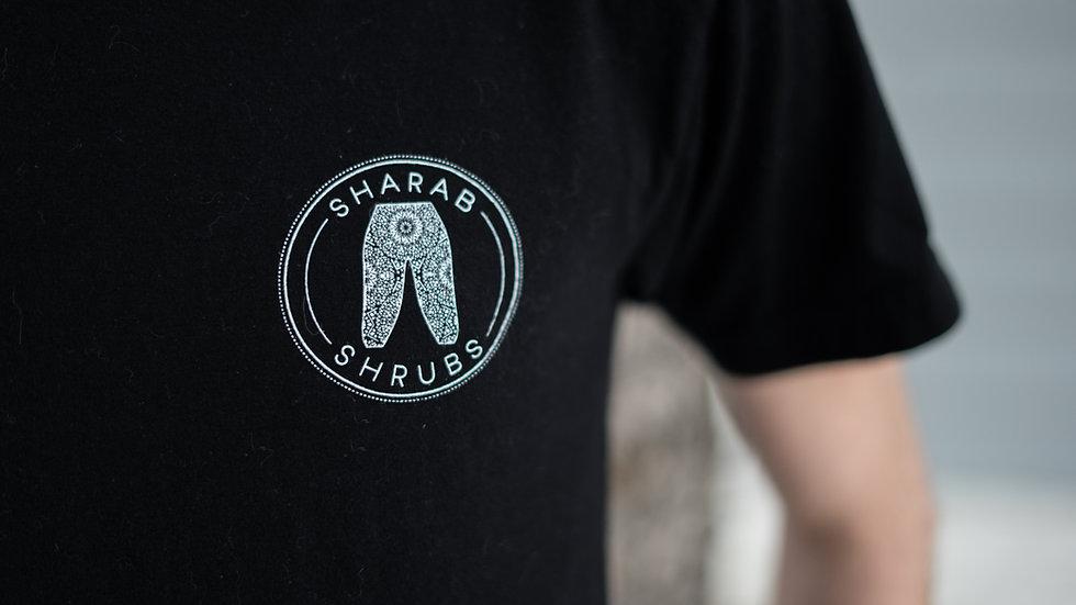 Sharab Shrubs T-Shirt (Black & White)