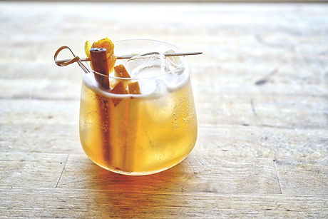 Saturday Afternoon. A delicious drink to pair with your relaxed weekend. This rum cocktail brings out all the flavors we packed into our asian pear ginger cinnamon shrub.