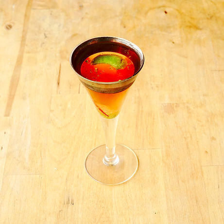 Restrained Elegance is our take on the strawberry daiquiri