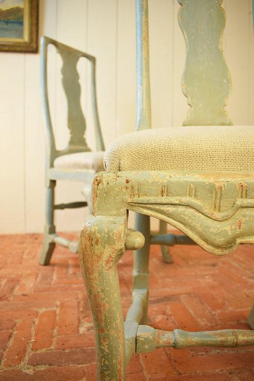 18th Century Swedish Provincial Rococo chairs