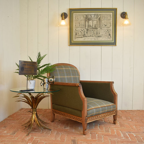 A Wonderful 1920's Mahogany Bergere Style Chair
