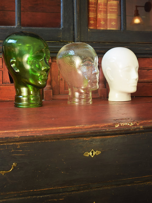 1970's Mannequin glass heads