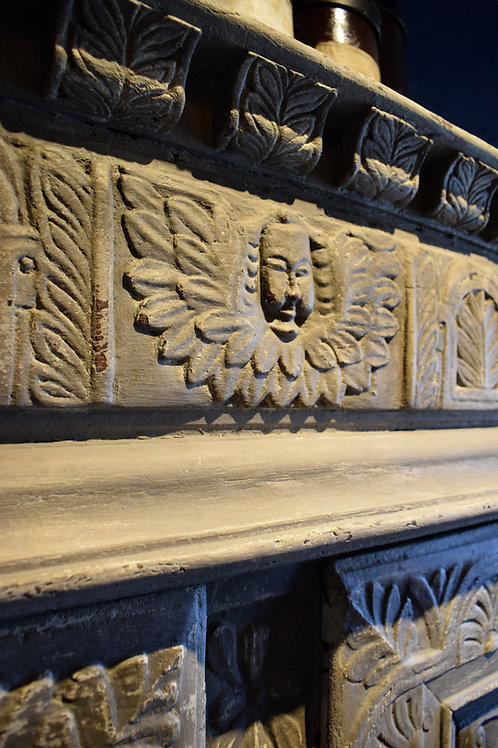 16th Century Oak painted Court cupboard