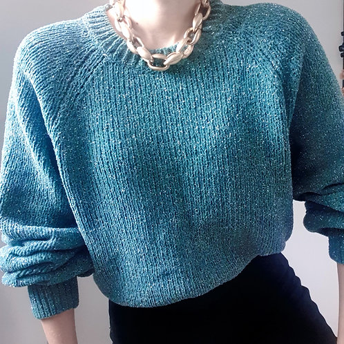 Sparkling Turquoise Sweater