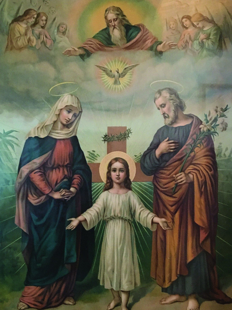 God the Father and Holy Family