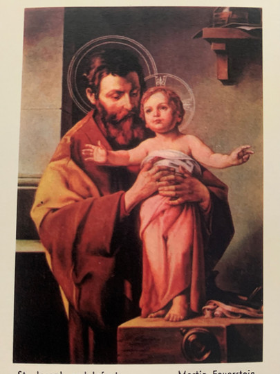 St Joseph and Lord Jesus