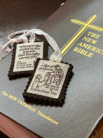 Brown Scapular and Bible