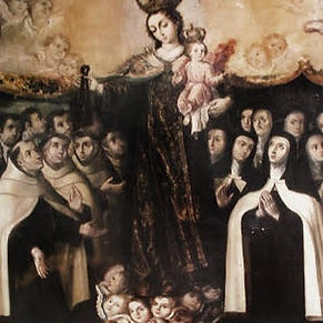 Carmelite Saints Under Mantle of Blessed