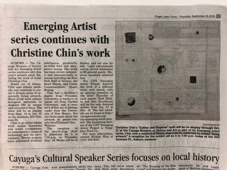 Christine Chin at The Cayuga Museum is in the Finger Lakes Times