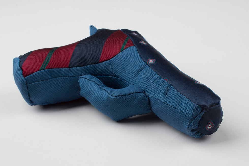 Political Ties: Thunder .22 in blue, jaquard and stripe