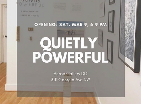 Quietly Powerful opens Saturday, March 9, 6-9pm at Sense Gallery in DC