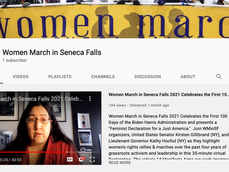Dangerous Sentiments at Women's March Seneca Falls