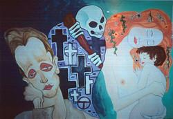 Klimt and Schiele inspired piece