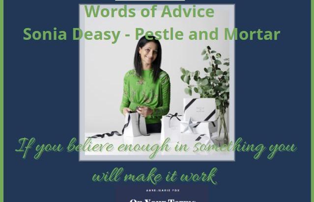 Words of Advice Sonia Deasy