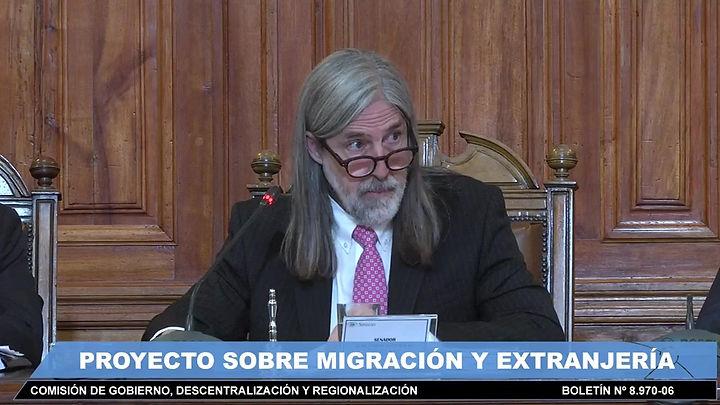 Presentación sobre el proyecto de ley de migración realizada en la Comisión de Gobierno Interior del Senado