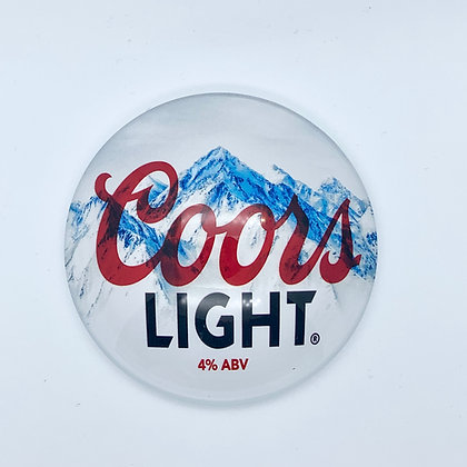 Coors Light Round 3D Beer Badge (80mm) Price Including VAT £1